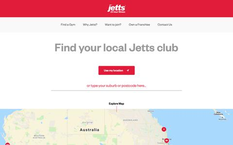 Screenshot of Signup Page jetts.com.au - Find a Gym | Jetts 24 Hour Fitness Gyms, Fitness Clubs - captured Oct. 11, 2018
