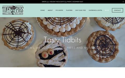 Screenshot of Blog tinypies.com - Blog — Tiny Pies - captured Dec. 19, 2016