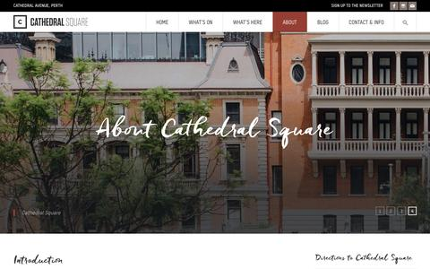 Screenshot of About Page cathedralsquare.com.au - Cathedral Square - dining retail arts entertainment experiences - captured April 25, 2016