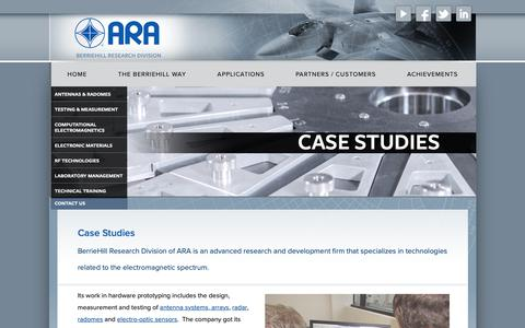 Screenshot of Case Studies Page berriehill.com - Case Studies | BerrieHill Research Division of ARA - captured Oct. 5, 2018