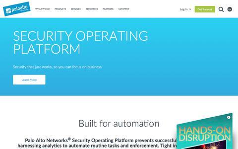 Security Operating Platform - Palo Alto Networks