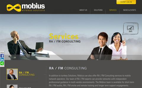Screenshot of Services Page mobiusws.com - RA / FM Consulting | Mobius - captured Oct. 7, 2014