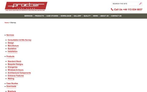 Screenshot of Site Map Page caststoneuk.co.uk - Procter Machineshop Guard & Machinery Guarding sitemap - captured Nov. 11, 2016