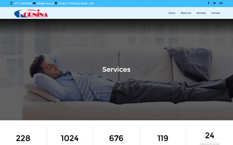Screenshot of Services Page ornina.ae - Services – Ornina - captured Dec. 21, 2016