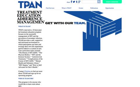 Screenshot of Team Page tpan.com - TEAM | TPAN - captured Dec. 16, 2016