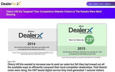 Screenshot of Case Studies Page dealerx.com - Case Studies | DealerX - captured Nov. 7, 2019