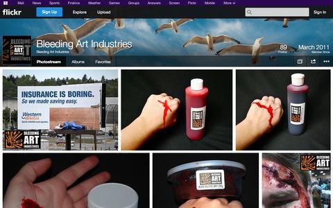 Screenshot of Flickr Page flickr.com - Flickr: Bleeding Art Industries' Photostream - captured Oct. 23, 2014