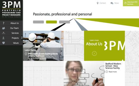 Screenshot of Home Page rlf3pm.com - 3PM | Property & Construction Project Management - London - captured Oct. 6, 2014