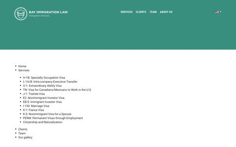 Screenshot of Site Map Page bayimmigrationlaw.com - Bay Immigration Law - captured Dec. 30, 2015