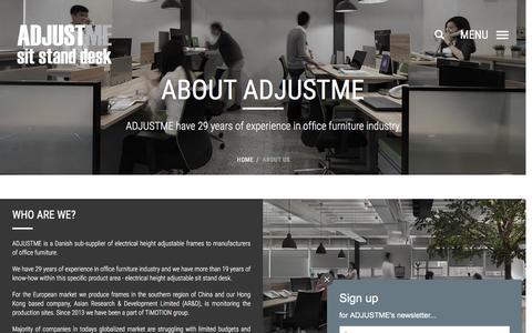 Screenshot of About Page adjustme.eu - About us - ADJUSTME - captured Nov. 19, 2016