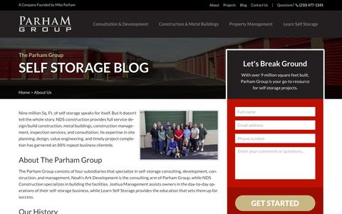 Screenshot of About Page learnselfstorage.com - About Us | Parham Group - captured Oct. 21, 2016