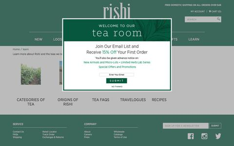 Organic Tea, Green Tea & Loose Leaf Tea | Rishi-Tea.com
