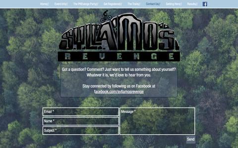 Screenshot of Contact Page syllamosrevenge.com - Syllamos Revenge Syllamore Mountain Bike Trail | Contact Us// - captured Jan. 29, 2018