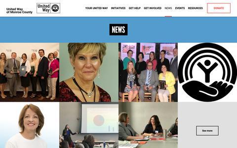 Screenshot of Press Page unitedwaymonroe.org - News - United Way of Monroe County - captured Oct. 18, 2018