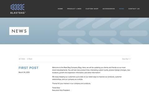 Screenshot of Press Page theblastbag.com - News — The Blast Bag Company - captured Oct. 7, 2014