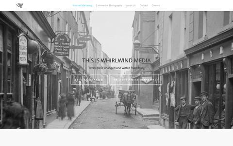 Screenshot of Home Page whirlwind-media.com - Internet Marketing - Whirlwind Media - captured Jan. 10, 2016