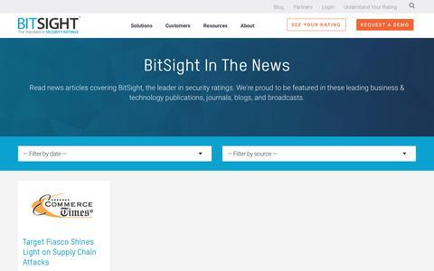 Screenshot of Press Page bitsight.com - Cybersecurity News | BitSight | Commerce Times - captured Dec. 30, 2019
