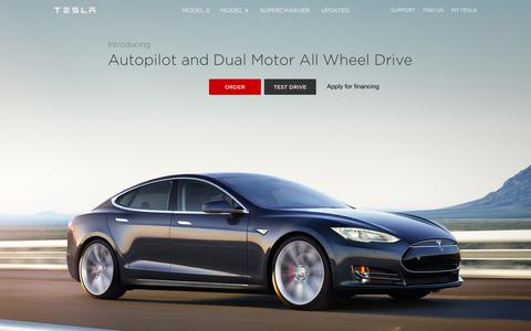 Screenshot of Home Page teslamotors.com - Tesla Motors | Premium Electric Vehicles - captured Jan. 15, 2015