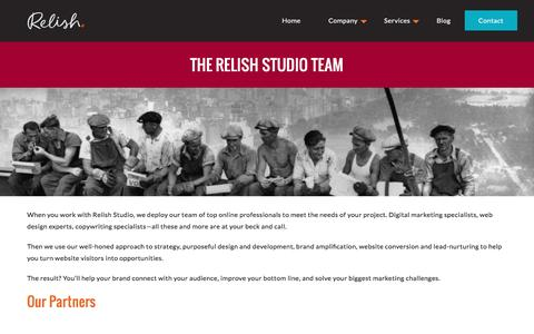 Screenshot of Team Page relishstudio.com - Web Design Specialists | Stuart Swineford, Bret Orton - captured Aug. 13, 2016
