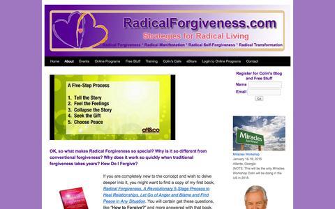 Screenshot of About Page radicalforgiveness.com - About Radical Forgiveness - How to Forgive?   - captured Nov. 2, 2014