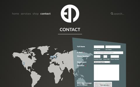 Screenshot of Contact Page epm-music.com - Contact - EPM Music   Your partner for online distribution, pr promotion, rights management & more - captured Nov. 8, 2018