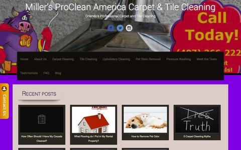 Screenshot of Blog procleanamericaorlando.com - Blog | Miller's ProClean America Carpet & Tile Cleaning - captured Oct. 27, 2014