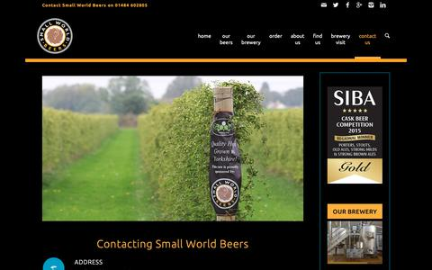 Screenshot of Contact Page smallworldbeers.com - Small World Beers | contact us | Small World Beers - captured Oct. 19, 2018
