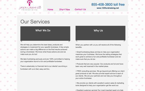 Screenshot of Services Page 123fundraising.net - Easy Fundraising Ideas, No Cost Fundraisers, No Upfront Fee, Free Fundraisers - captured Nov. 26, 2016