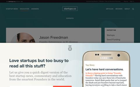 Jason Freedman | Startups.co