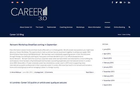 Screenshot of Blog career3point0.com - Career 3.0 Blog - Career 3.0 - captured Oct. 22, 2016