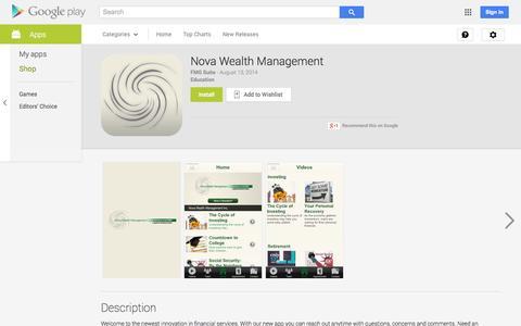 Screenshot of Android App Page google.com - Nova Wealth Management - Android Apps on Google Play - captured Nov. 3, 2014