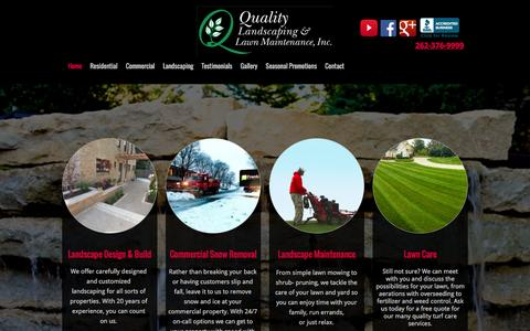 Screenshot of Home Page qllm.com - Home - QUALITY LANDSCAPING INC. - captured Jan. 29, 2016