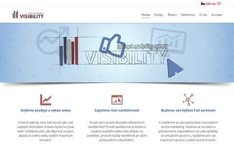 Screenshot of Home Page visibility-digital.cz - VISIBILITY - online marketingová agentura - captured Oct. 6, 2014