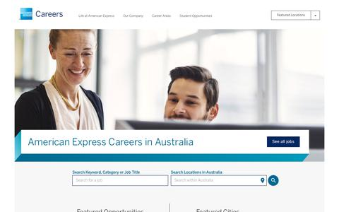 Screenshot of Jobs Page americanexpress.com - American Express Careers - captured Oct. 28, 2017