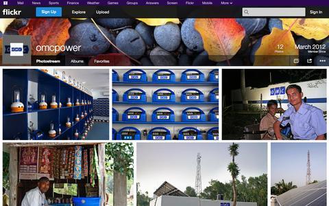 Screenshot of Flickr Page flickr.com - Flickr: omcpower's Photostream - captured Oct. 26, 2014