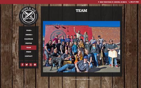 Screenshot of Team Page hopsandpie.com - Team | Hops & Pie - captured Oct. 27, 2014