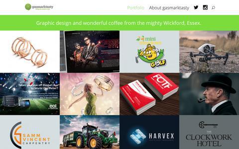Screenshot of Home Page gasmarktasty.com - Portfolio » gasmarktasty - Freelance Graphic Designer - captured Sept. 30, 2018