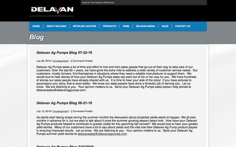 Screenshot of Blog delavanagpumps.com - Blog-avan Ag Pumps - captured Aug. 1, 2016