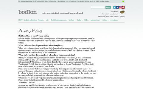 Screenshot of Privacy Page bodlon.com - Bodlon Privacy Policy | Bodlon - captured Aug. 3, 2018