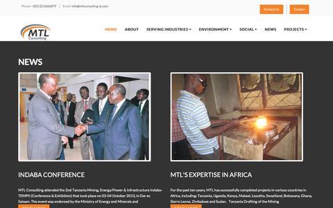 Screenshot of Press Page mtlconsulting-tz.com - MTL News in Tanzania - captured Nov. 18, 2016