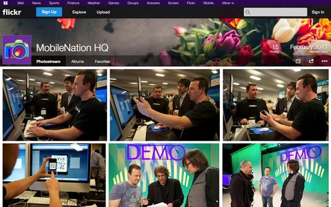 Screenshot of Flickr Page flickr.com - Flickr: MobileNation HQ's Photostream - captured Oct. 25, 2014