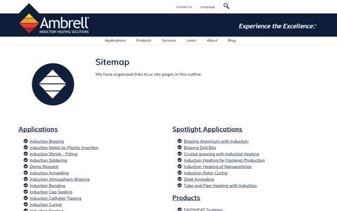 Screenshot of Site Map Page ambrell.com - Sitemap - captured Dec. 26, 2016