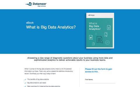 Screenshot of Landing Page datameer.com - What Is Big Data Analytics - captured Dec. 27, 2016