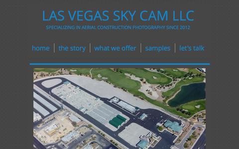 Screenshot of Home Page lasvegasskycam.com - Las Vegas Sky Cam - captured Oct. 1, 2014