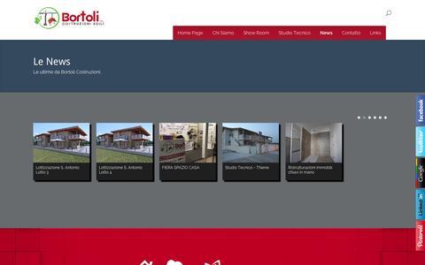 Screenshot of Press Page bortolicostruzioni.it - News - Bortoli Costruzioni e Ristrutturazioni Edili - captured Oct. 1, 2014
