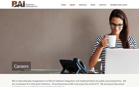 Screenshot of Jobs Page bragonier.com - BAI Careers - captured Sept. 30, 2018