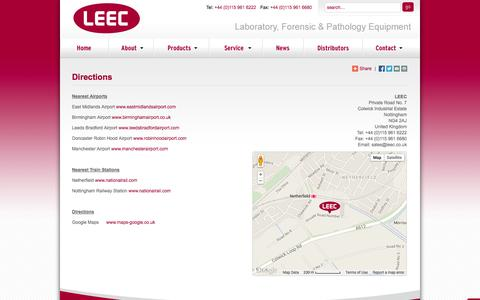 Screenshot of Maps & Directions Page leec.co.uk - Directions - LEEC - captured Oct. 1, 2014