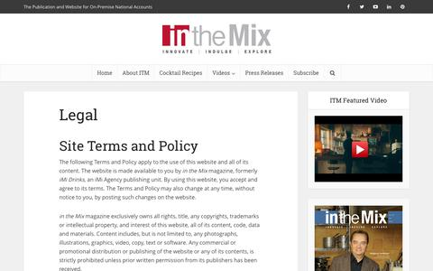 Screenshot of Terms Page on-premise.com - Legal - in the Mix Magazine - captured Nov. 26, 2016