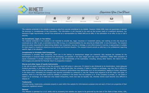 Screenshot of Terms Page hinettamg.com - HiNett   Legal - captured Oct. 2, 2014
