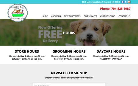 Screenshot of Hours Page happydogcafe.net - Hours – Happy Dog Cafe – Belmont NC - captured July 15, 2017